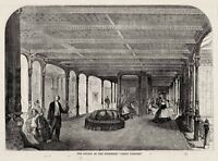 Great Eastern Steamship Grand Saloon Interior View 1859