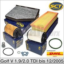 VW Golf 5 1K1 1.9/2.0 TDI bis 12/2005 | Filtersatz Filterset Inspektionspaket