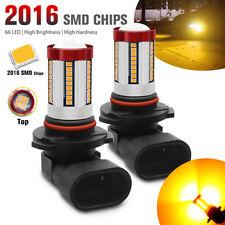 2pcs 9005 HB3 LED 66 SMD Fog Light Super Bright Amber DRL Car Driving Lamp Bulbs