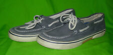 Sperry Top Siders Halyard Lace-Up, Blue Canvas, men's 9M