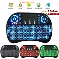 Wireless Mini Keyboard Rii i8 Air Mouse Keypad Remote Control Android TV Box UK