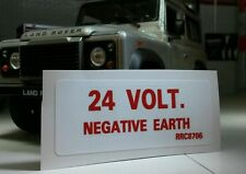 Land Rover Defender 90 110 militaire Wolf 24V FFR Neg Earth Autocollant Decal rrc8706
