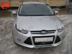 Front Eyelids Eyebrows Headlights Covers var №1 for Ford Focus 3 III 2011-2014