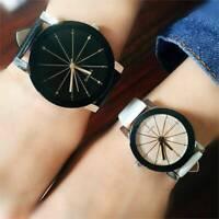 Fashion Men Women Leather Watch Strap Couple Analog Quartz Wrist Watches