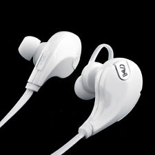 WHITE Bluetooth Earbuds Headphones iPhone Galaxy Wireless Stereo Running Headset