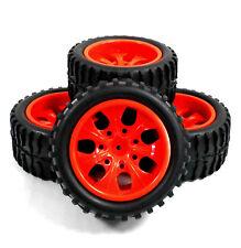 8014 1/10 Échelle Hors Pistes Monster Truck Pneu et Jante Rouge X 4 08045