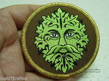 GREEN MAN IRON ON CLOTHING PATCH Horned God - Wicca Pagan Witch Goth GREEN MAN