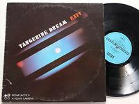 TANGERINE DREAM Exit CANADA LP VINYL 1981 Berlin School Synth Ambient Electronic