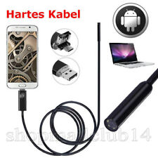 HARTES KABEL 5M USB Endoskop Kamera 7mm HD 6 LED Inspektion für Handy Android PC