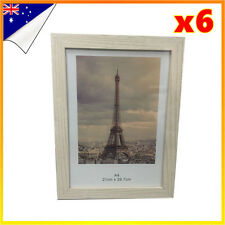 6 x A4 Size Wooden Timber Glass Frame Sets Document Certificate Photo Picture