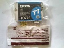 New Epson 77 Cyan Ink Cartridge T0772 GENUINE!