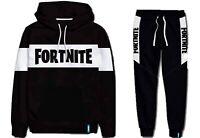 Boys Girls Kids Gamer Fortnite Tracksuit Set Hoody Sweatshirt Sweatpants 9-16Yrs