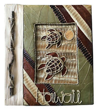 "Hawaiian Handmade Natural Materials 40 Photos Album Honus Hawaii Aloha 4""x6"" NIB"