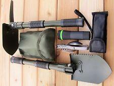 KLAPPSPATEN Pickel  HACKE+ Zoom Taschenlampe + Edelstahl Essbesteck 6 teilig