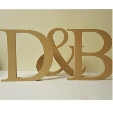 Personalised 25cms high wedding initials & freestanding wooden letters sign