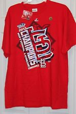 ST LOUIS CARDINALS WORLD SERIES 2013 MAJESTIC T-SHIRT NL CHAMPIONS ADULT LG NWT