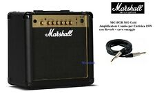 Marshall MG15GR Gold Amplificatore Combo 15W con Reverbero per Elettrica + cavo