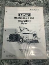 Long 2046 2047 Round Hay Baler Parts Manual Catalog Book Sku D