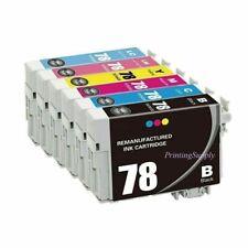 6x Hi-Yield Ink For Epson 78 T0781 - T0786 Stylus Photo R260 R280 R380 RX580 680