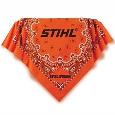 "STIHL Chainsaws *ORANGE BANDANA Handkerchief* 22""x22"" 100% Cotton BRAND NEW!"