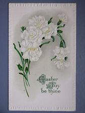 R&L Postcard: Beautiful, Easter Greetings JJ Marks, Flowers, Embossed