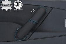 Blue Stitch 2X Avant Poignée Porte Couverture en cuir pour CITROEN XSARA PICASSO 04-10