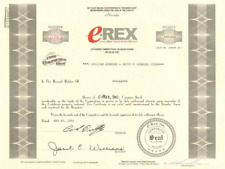 e-REX > computer hardware software and web hosting internet stock certificate