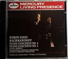 RACHMANINOV PIANO CONCERTO No.2 & No.3 JANIS DORATI CD MERCURY LIVING PRESENCE