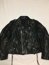 VTG 80s Schott NYC Perfecto 125 Naked Cowhide Leather Motorcycle Jacket Mens 46