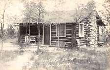 Largo Springs Michigan Log Cabin Store Real Photo Antique Postcard K60338