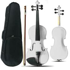 More details for 4/4 full size acoustic violin set with case bow rosin bridge white