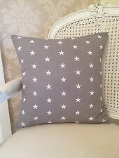 Grey And White Stars Cushion Cover 16x16 Inch, Baby Nursery