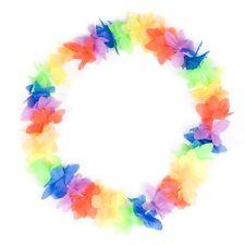 HAWAIIAN HAWAII multi coloured LEI bright FLOWER SUMMER COSTUME ACCESSORIES