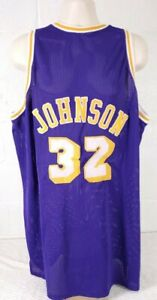 VINTAGE LOS ANGELES LAKERS  MAGIC JOHNSON MITCHELL & NESS  79-80 JERSEY Size 60