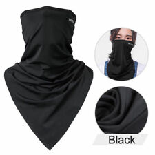 ROCKBROS Triangle Scarves Ice Fabric Cycling Headband Breathable Face Mask Black