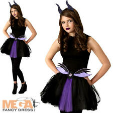 Maleficent Tutu Set Fancy Dress Disney Villain Teen Ladies Halloween Costume Kit