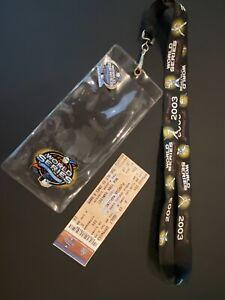 2003 World Series 100th Anniversary Florida Marlins vs. NY Yankees Ticket/pin