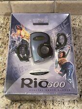 Rio 600 Mp3 Digital Audio Player - Nostalgia - Personal Audio Player - Vtg - New
