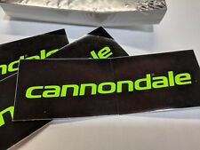 """Cannondale Black Neon Green Bicycling Decal Pack of 50! Car Stickers 4.5"""""""