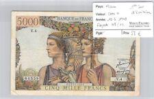 BILLET FRANCE - 5 000 FRANCS   10.3.1949 - 1er JOUR D'EMISSION
