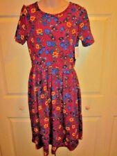 WOMENS DRESS LARGE LuLaRoe Amelia Large  DEEP FLORAL  PRINT EASY WEAR DRESS NWT