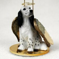 English Setter Blue Belton Dog Angel Tiny One Ornament Figurine Statue
