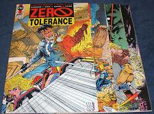 Zero Tolerance FULLl 4 issue Comic Series First Publishing 1990