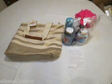 Rare bath and body works gift set Tote signature collection hand shower candle
