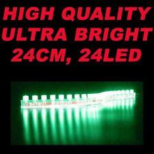 GREEN 12V 24 LED Flexible Strip Light Lazer Under glow Sofa, Bed, Table, TV