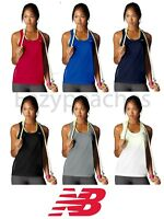 New Balance Ladies XS-2XL TEMPO Running Singlet Tank Top T-Shirt Gym dri fit Tee