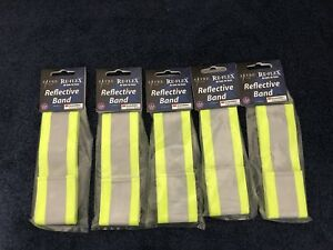 LOT OF 5 BAGS SAYRE REFLEX  BAND 3M SCTOCHLITE REFLECTIVE MATERIAL MADE IN USA