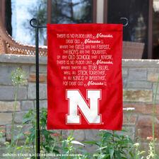 Nebraska Huskers Fight Song Garden Flag and Yard Banner