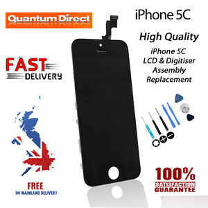 NEW iPhone 5C Retina LCD & Digitiser Touch Screen Replacement Grade AAA - BLACK