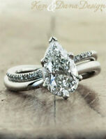 925 Silver White Topaz Woman Wedding Engagement Gift Party Jewelry Ring Sz6-10